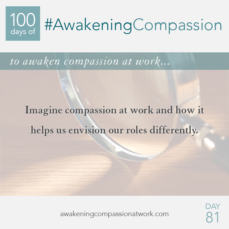 Imagine compassion at work and how it helps us envision our roles differently.