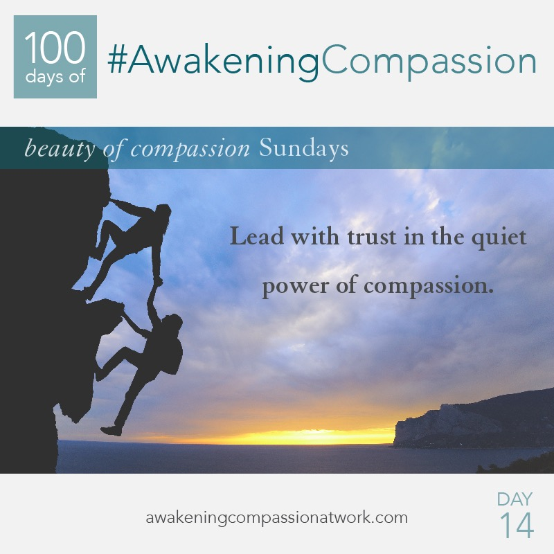 Lead with trust in the quiet power of compassion.