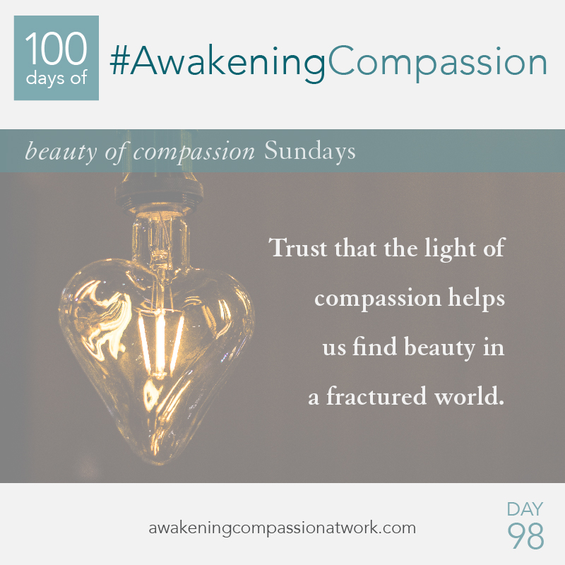 Trust that the light of compassion helps us find beauty in a fractured world.
